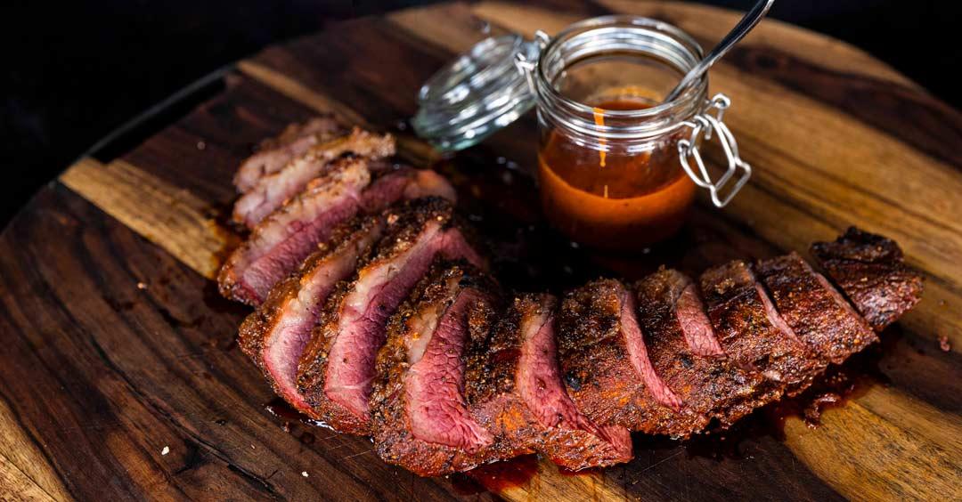 bbq tri tip met steak